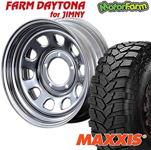 モーターファーム タイヤホイールセット FARM デイトナ クローム 16×6J/5H-18 マキシス トレパドール 185/85R16 (maxxis trepador マッドテレイン M/T DAYTONA)