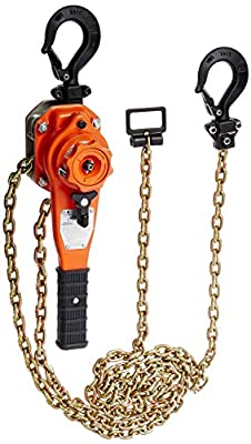 "CM BAN07510 Bandit Ratchet Lever Hoist, 14.68"" Length, 3/4 Ton Capacity, 10' Lift"