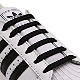 INMAKER No Tie Shoe Laces for Kids and Adults, Silicone Flat Shoe Laces for Sneaker, Elastic Waterproof Tieless Running Shoe Laces