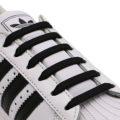 INMAKER No Tie Shoelaces for Children and Adults, Elastic Shoelaces for Sneakers, Silicone Flat Tieless Working Shoe Laces