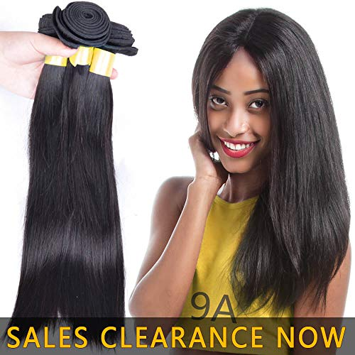 Brazilian Virgin Human Hair 3 Bundles Silky Straight Cheap 9A Peruvian Remy Hair extensions Products Best Indian Unprocessed Hair Weave Natural Black Color Real 100% Malaysian Hair Weft 12 14 16 Inch