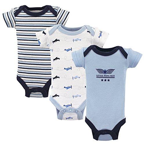 (Luvable Friends Baby Preemie Bodysuit, 3 Pack, Airplanes,)