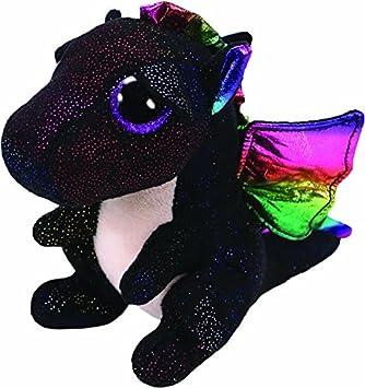 TY Anora Peluche dragón, color negro (United Labels Ibérica 36897TY) , color/modelo surtido