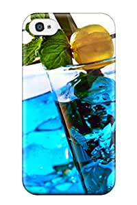 Best Perfect Tpu Case For Iphone 4/4s/ Anti-scratch Protector Case (cocktail [08] Blue Curacao [09october2014thursday] [010209] [versionone])