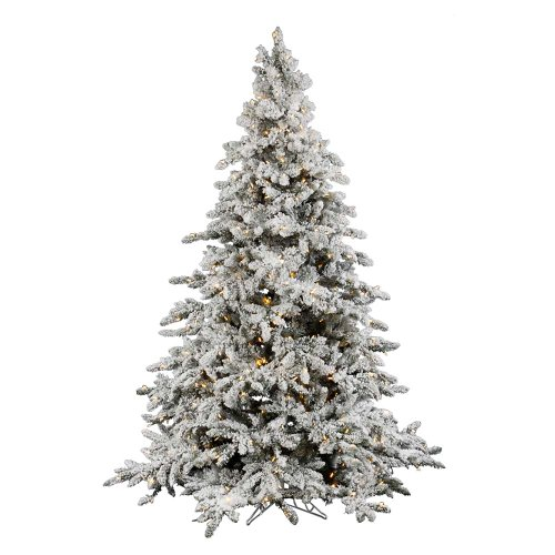 Vickerman Flocked Utica with 250 Warm White Light, 4.5-Feet by -