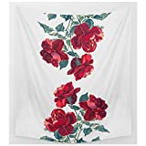 KRWHTS Pink Rose Floral Tapestry Wall Hanging Elephant Shabby Chic Flower Boho Wall Decor for Kids Girls Room Dorm (150130cm(60''52''), 20)