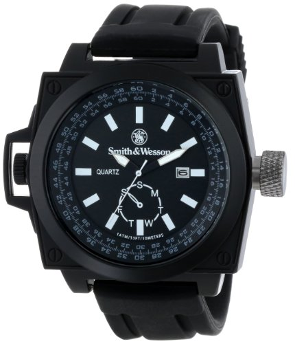 Smith & Wesson SWW-LW6097 EGO Series Watch with Silicon Strap, Black