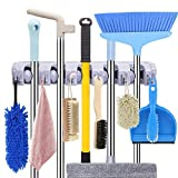HYRIXDIRECT Mop and Broom Holder Wall Mount Heavy