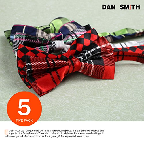 DBF0184 Excellent Bow Ties For Business Pre-tied Bow Ties - 5pc Luxury For Party By Dan Smith by Dan Smith (Image #1)