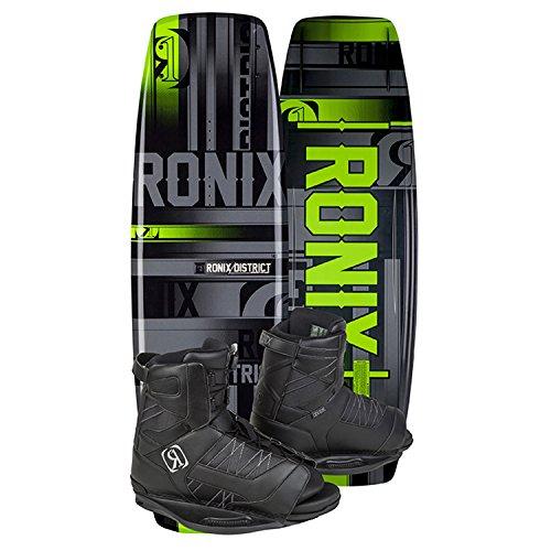 Ronix District Wakeboard 143cm + Divide Bindings - US Men's (7.5-11.5) - Black/Green