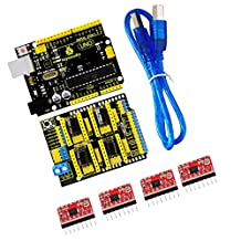 MagiDeal CNC kit / CNC Shield V3.0 + uno R3+4 Pieces a4988 Driver / GRBL for Arduino