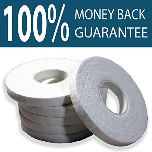 Armadillo Skin Finger Tape Strong Cotton Athletic Tape for Grappling, Brazilian Jiu Jitsu (BJJ), Judo, Rock Climbing and MMA 0.3 in x 15 yds, 6 rolls per pack