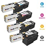 LD Compatible Xerox Phaser 6010 Cartridges (4 Pack): 1 Black 106R01630, 1 Cyan 106R01627, 1 Magenta 106R01628, 1 Yellow 106R01629 for the Phaser 6010, 6000, 6010N, WorkCentre 6015 Series Printers