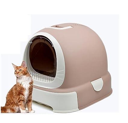 DAN Caja de Piedras Cerrada para Gatos, Brown