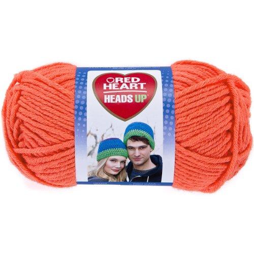 Coats yarn Red Heart Heads Up Yarn, Bright Coral