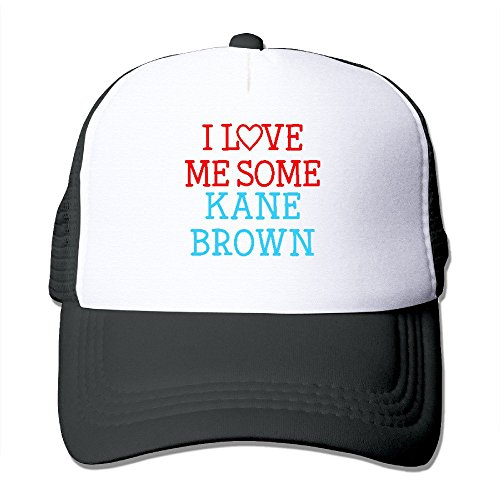 Price comparison product image GLK300 Men's I Love Me Some Kane Brown Fan Caps Sun-hats Ajustalbe 17-23 Inches Black
