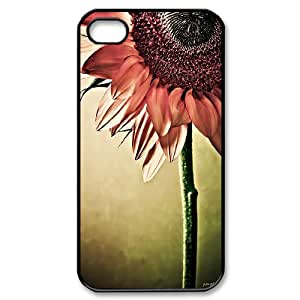 Sunflower Pattern Hard Case Cover Back Skin Protector For Iphone 4,4S Case HSL461675