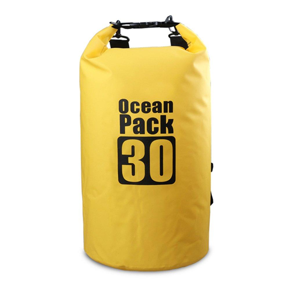 Bear Outdoor Dry Sack/Waterproof Bag for Boating, Kayaking, Hiking, Snowboarding, Camping, Rafting, Fishing and Backpacking 30L Yellow