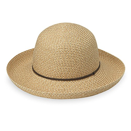 Wallaroo Hat Company Women's Amelia Sun Hat - UPF 50+, Lightweight, Packable, Modern Style, Designed in Australia, Natural
