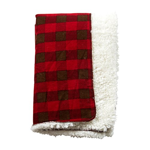 Image of the Trend Lab Northwoods Plush Receiving Blanket
