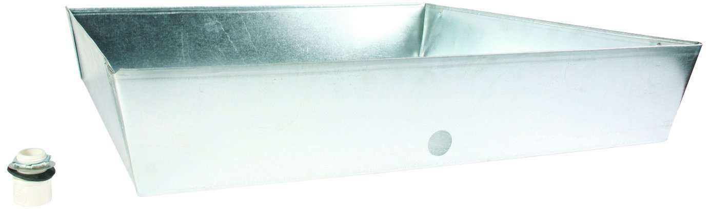Camco 20932 Water Heater Drain Pan, 30-Inch x 30-Inch x 6-Inch