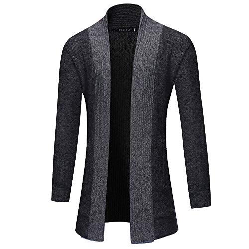 Cardigan Tops Casual Slim Fit Men Jacket Coat ZYAP Solid Tops(Black,M) from ZYAP Mens Tops