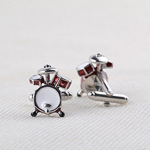 Diamond Cuff Cdet Links Silver Mens Pair Womens Dress 1 Gift Red Drums Wedding Business Cufflinks Cufflinks aqF0Yxwq