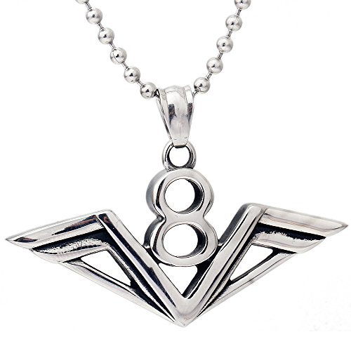 usongs fashion popular lucky number 8 necklace