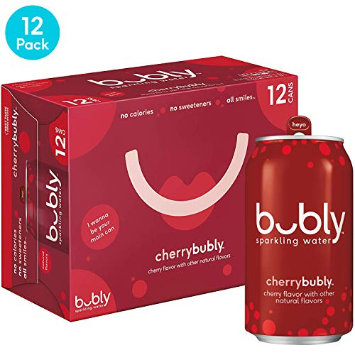 bubly Sparkling Water, Cherry, 12 fl oz. cans (12 pack) (Don T Be A Bully Be A Star)