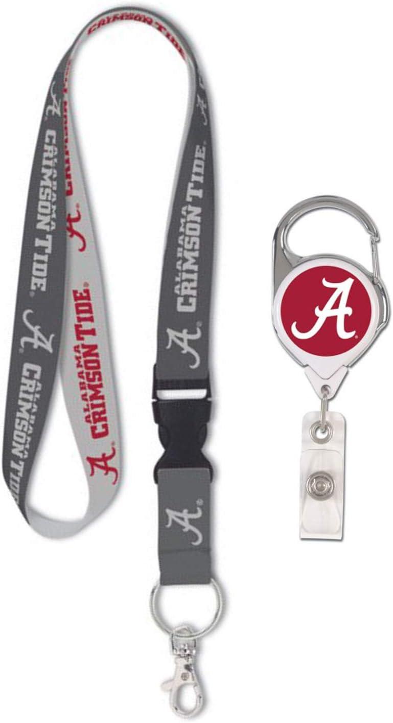 WinCraft NCAA Alabama Crimson Tide Premium Badge Reel Id Holder