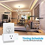 Amysen Wifi Smart Plug,Smart Outlet Mini Socket No Hub Required, Control Your Devices from Anywhere Compatible with Alexa and Google Assistan