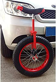 WWFAN 20 24 Inch Wheel Unicycle for Kids Adults Beginner Teen, Unicycles Comfort Saddle Seat Non-Slip Extra Th