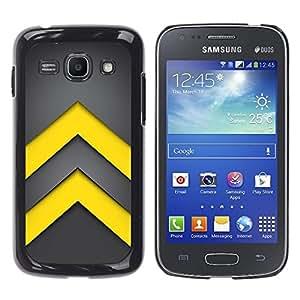 YiPhone /// Prima de resorte delgada de la cubierta del caso de Shell Armor - Minimalist Yellow Arrows - Samsung Galaxy Ace 3 GT-S7270 GT-S7275 GT-S7272