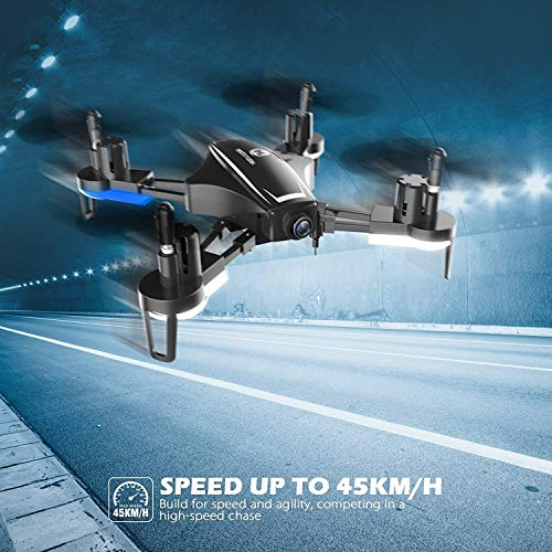 51QSCi3LhOL - Holy Stone HS230 RC Racing FPV Drone with 120° FOV 720P HD Camera Live Video 45Km/h High Speed Wind Resistance Quadcopter with 5.8G LCD Screen Real Time Transmitter Includes Bonus Battery