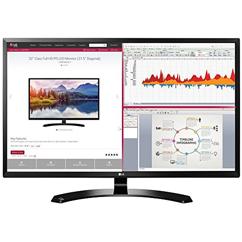 : LG 32MA68HY-P 32-Inch IPS Monitor with Display Port and HDMI Inputs