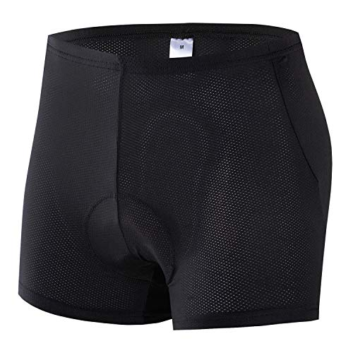 voofly Mens Cycling Underwear Padded Bike Shorts with Padding Lightweight Spin Cycle Pants Sponge Pad X-Large