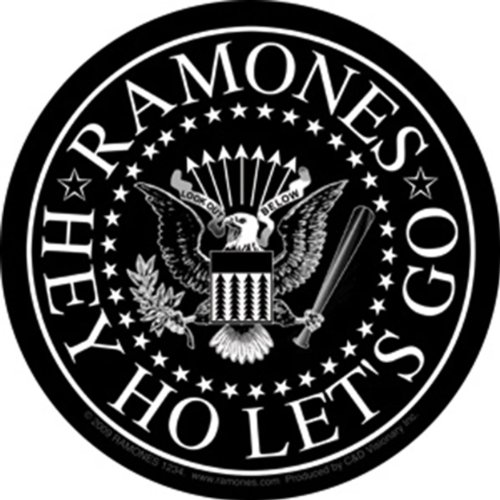 (Licenses Products Ramones Black Eagle Sticker)