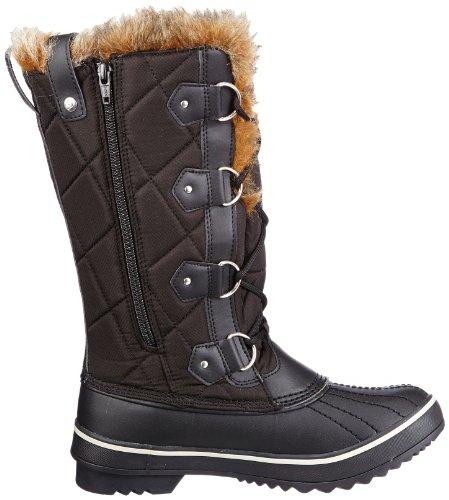 Skechers HighlandersMatterhorn Mountain - Botas De Nieve de material sintético mujer negro - Schwarz (BLK)