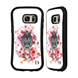 Official Monika Strigel Wolf Animals And Flowers 2 Hybrid Case for Samsung Galaxy S7