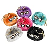 3'' POM POM WITH MOVING EYES CLIP-ON KEYCHAIN, Case of 72