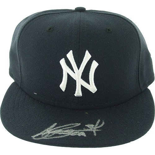 Steiner Sports MLB New York Yankees AJ Burnett Authentic Hat by Steiner Sports