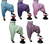 10pcs Striped Design Trouser Baggy Genie Harem Pants Boho Hippie Gypsy India Wholesale Lot (Multi-10pcs)
