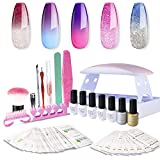 Sexy Mix Gel Nail Polish Starter Kit Shellac Top and Base Coat Set - Best Reviews Guide