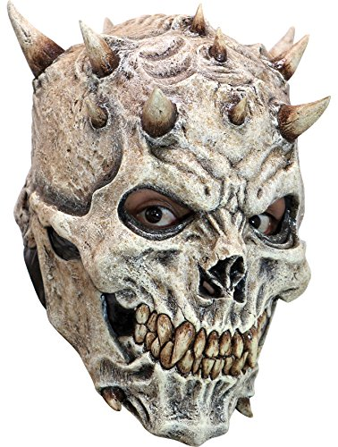 (Ghoulish Men's Horror Skeletal Spikes Demon Latex Mask Halloween Costume Accessory)