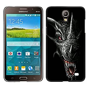 For Samsung Galaxy Mega 2 , S-type® Dragon Teeth Scary Black Horn - Arte & diseño plástico duro Fundas Cover Cubre Hard Case Cover