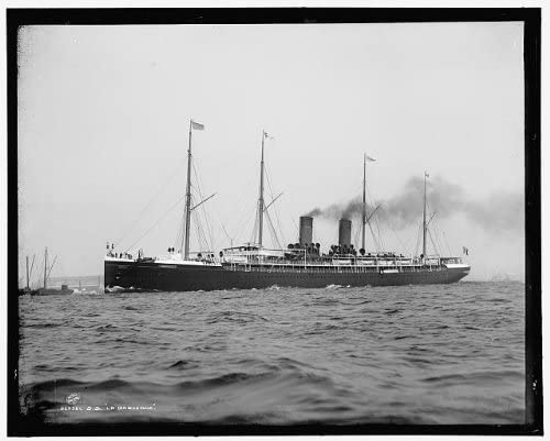 SS La Gascogne,ocean liners,boats,ships,vessels,Detroit Publishing Company,1890 Photo