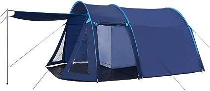 vidaXL Campingzelt Tunnelzelt Familienzelt Gruppenzelt