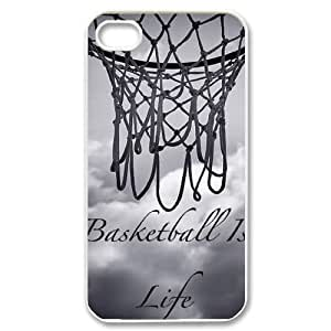 Basketball is life DIY Case Cover for Iphone 4,4S,Basketball is life custom case cover