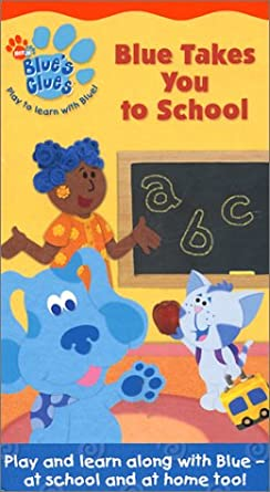 amazon com blue s clues blue takes you to school vhs steve
