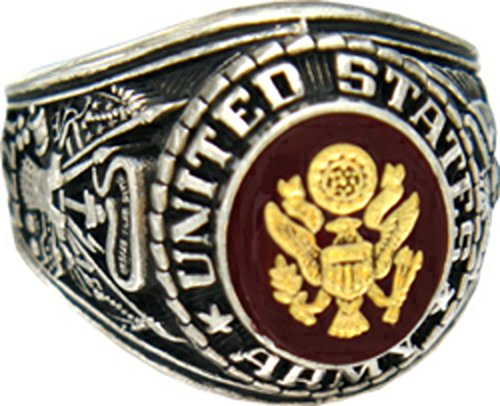 US Army Rhodium Plated Ring (12)